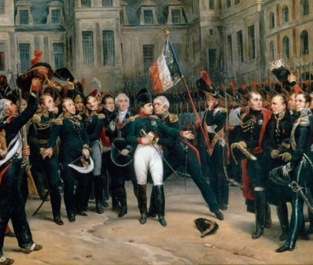 Napoleons Adieux To The Old Guard At Fontainebleau