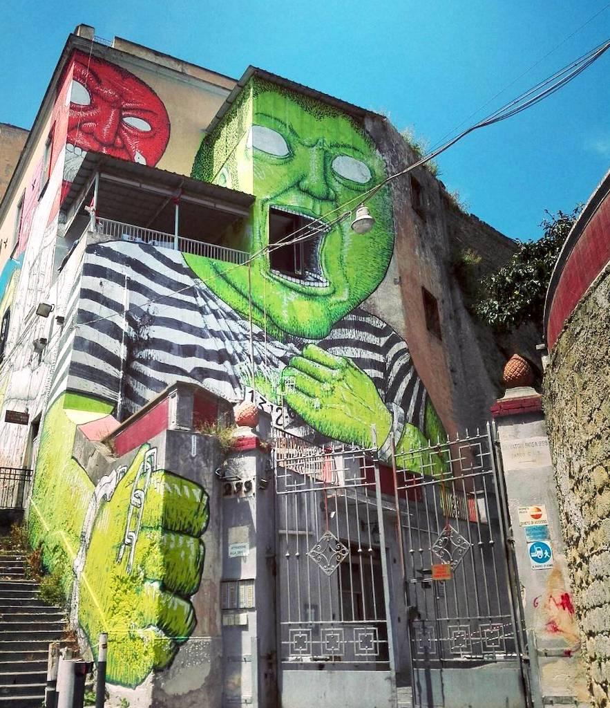 Street Art - Materdei blu