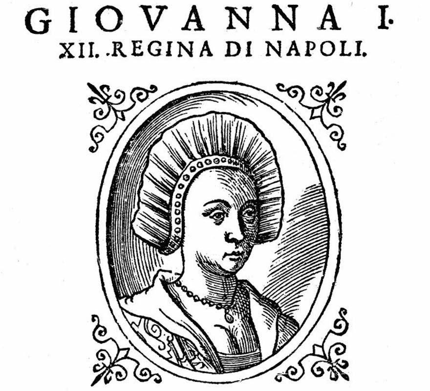 Giovanna I d'Angiò regina di Napoli