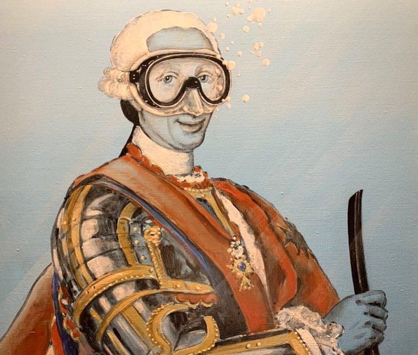 Carlo di Borbone street artist Blub - L'arte sa nuotare