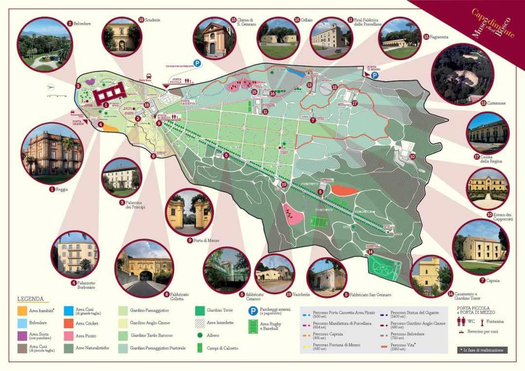 Mappa Real Bosco di Capodimonte