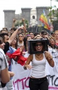 La protesta degli studenti a Napoli 2