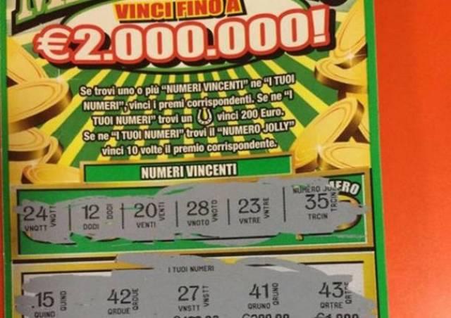 Capaccio: vincono 2 milioni di euro al Gratta e Vinci