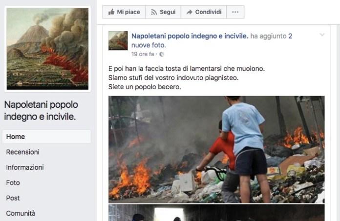 Pagina FB che insulta Napoli: richiesto 300mln di euro di risarcimento