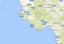 Terremoto oggi, Salerno: lieve scossa di magnitudo 2.2