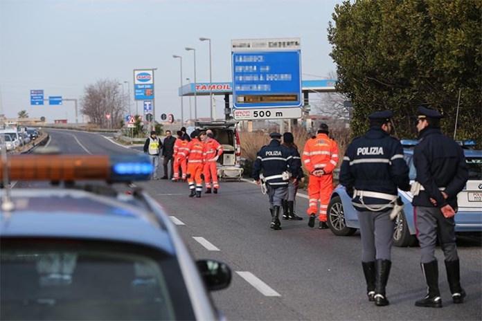 Incidente stradale sull'Asse Mediano: l'impatto è stato violento
