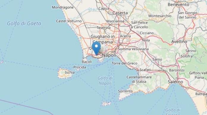 Terremoto oggi, Pozzuoli: registrata scossa di magnitudo 2.5