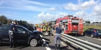 Incidenti stradali sull'A1: feriti e chilometri di code