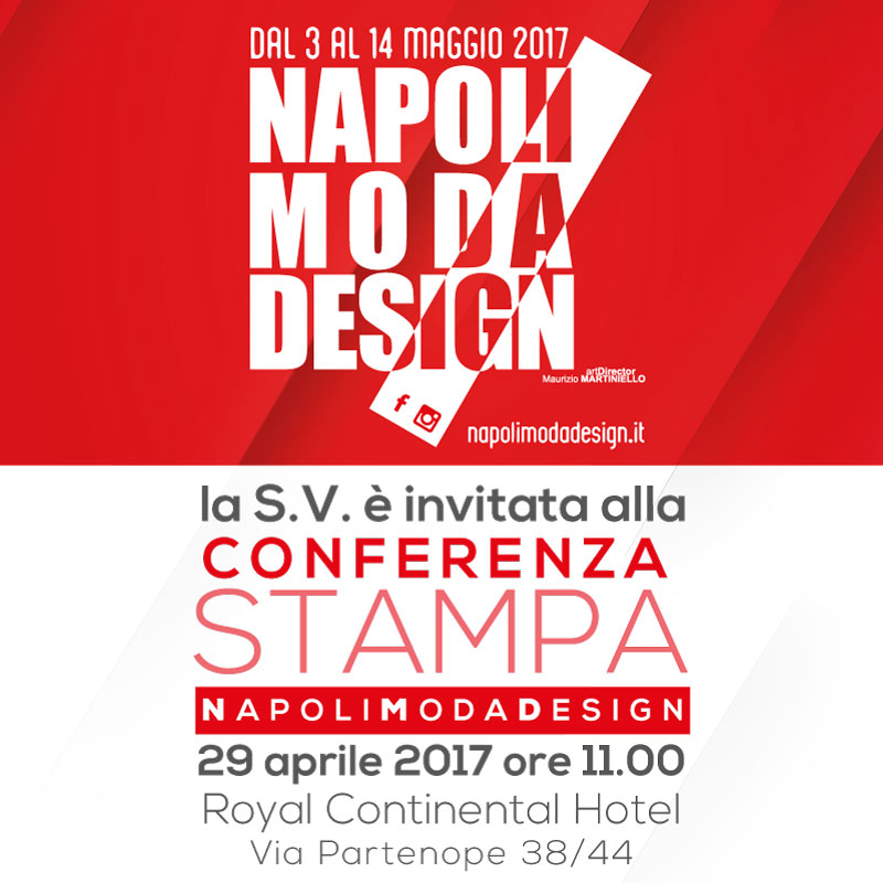 Invito Conferenza Stampa - Napoli Moda Design 2017