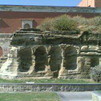 resti di villa Lucullo sul Monte Echia-foto anno 2000