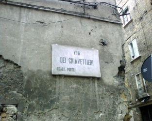 la via dei  napoletani e dei tifosi del Napoli