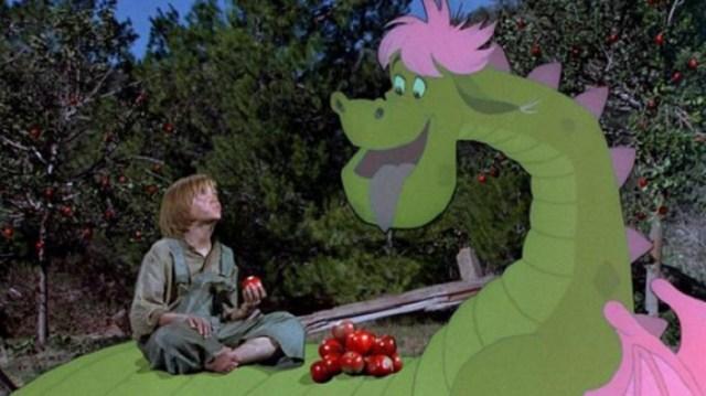 """Fotogramma del film """"Elliott il drago invisibile"""" del 1977."""