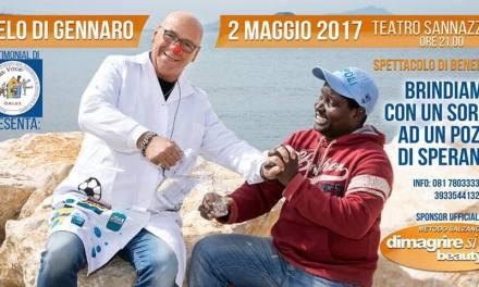 """Al Teatro Sannazzaro, Angelo di Gennaro con lo spettacolo di beneficenza """"Brindiamo con un sorriso ad un pozzo di speranza"""""""