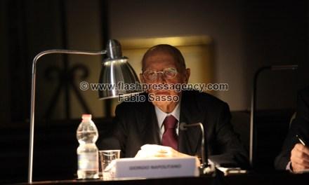 Il Presidente emerito Giorgio Napolitano a Napoli per un convegno