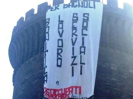 Bagnoli.manifestanti