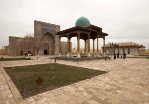 Tomb of Khwaja Abd al-Khaliq Ghujdawani with the Ulugh Beg Madrassa behind