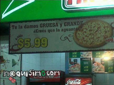 pizza grande y gruesa, imagen naca