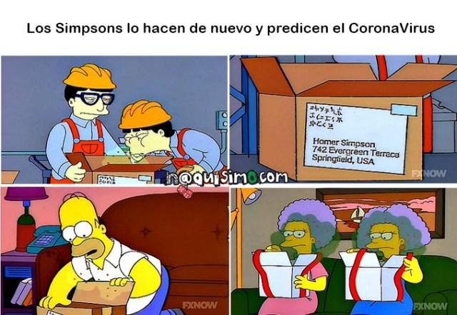 simpsons predicen el coronavirus meme