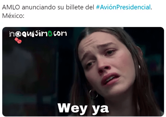 Meme Avion Presidencial YOU