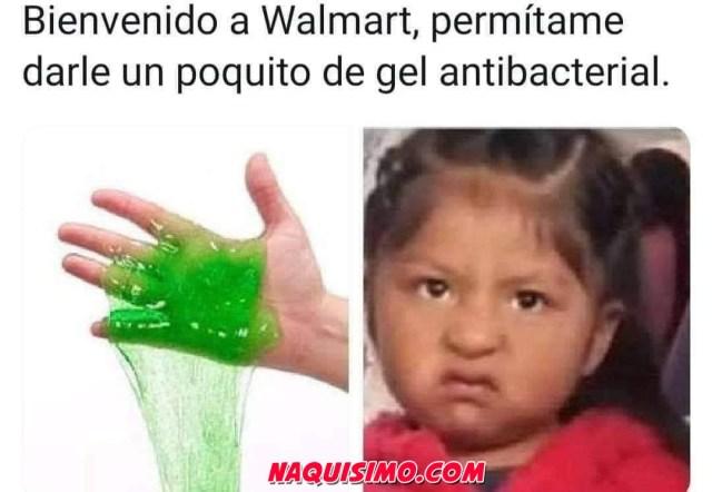 Cuando vas a Walmart y te dan Gel antibacterial