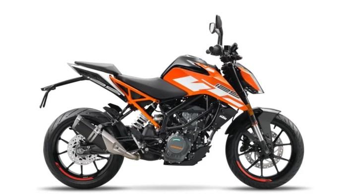 2021 KTM Duke 125 Orange