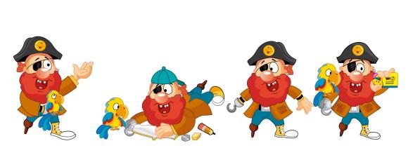 Poses pirata El Tesoro Encantado
