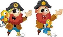 Ensayos colores pirata y guacamayo El Tesoro Encantado