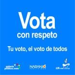 Vota con respeto
