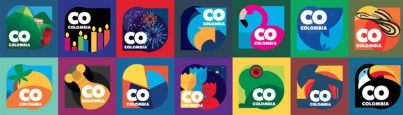 Geometría creativa de campaña La respuesta es Colombia