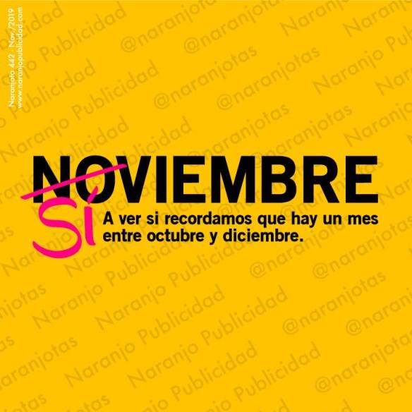 A ver si recordamos que hay un mes entre octubre y diciembre.