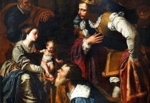 Artemisia Gentileschi. Adorazione dei Magi. 1636-7. Pozzuoli , (Na). Cattedrale.