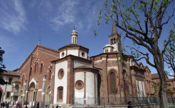 Notturno d'Estate dal Museo Diocesano. La Basilica di S. Eustorgio