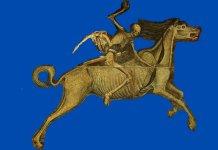 Il Trionfo Della Morte. Partic. della Morte a cavallo. Palermo , Palazzo Abatellis, XV sec.