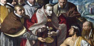 La Peste: San Carlo comunica gli appestati. T. da Varallo, collegiata di Domodossola.