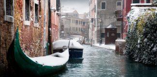 Venezia inedita sotto la neve