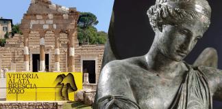 Vittoria Alata, I sec. d.C. Dopo un attento restauro la grande statua romana torna nel rinnovato sito bresciano del Capitolium. Presto le visite in presenza. Anche con Narciso d'Autore.