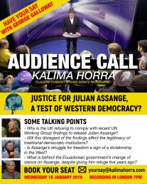 Julian Assange debate on Kalima Horra show