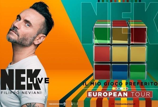 """NEK A LECCE CON """"IL MIO GIOCO PREFERITO – EUROPEAN TOUR"""""""