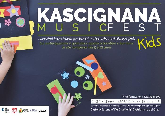 """KASCIGNANA MUSIC FEST: TRA I DIBATTITI E I SUPER LIVE, ANCHE LA MOSTRA """"STORIE DI ORDINARI SUCCESSI"""" E I LABORATORI INTERCULTURALI PER I PICCOLI"""