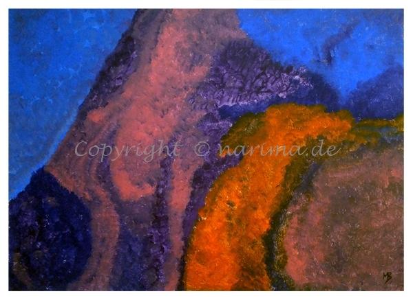 0116 - ohne Titel - 2020/06- Original: Acryl auf Vlies - ca. 51 x 70 cm