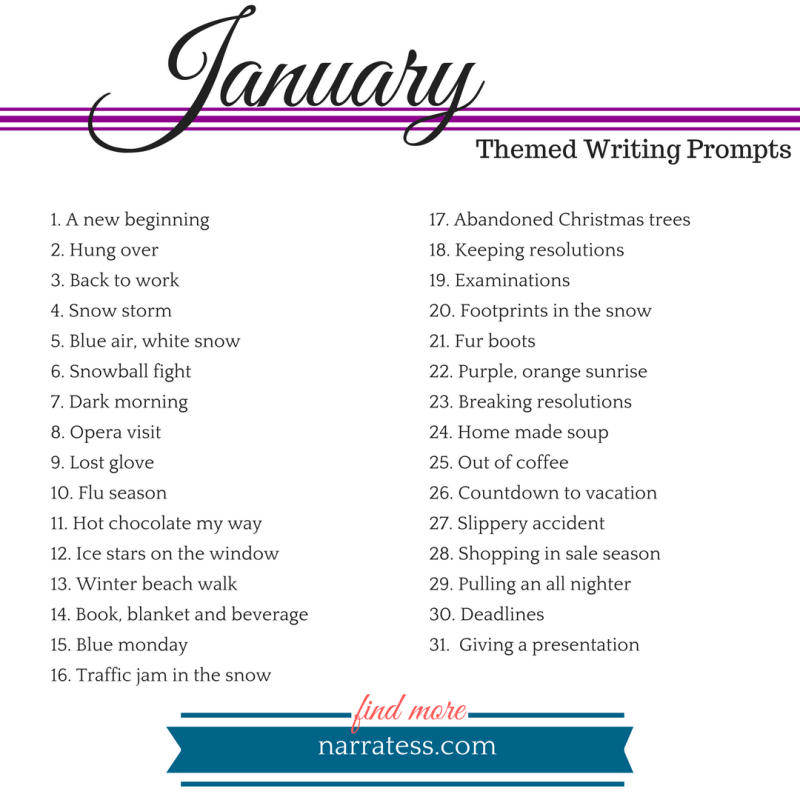 New Writing Prompts Every Month