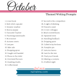 Writing Prompts 2018 - October