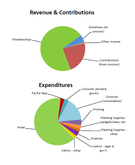2019 Financial Report Pie Charts