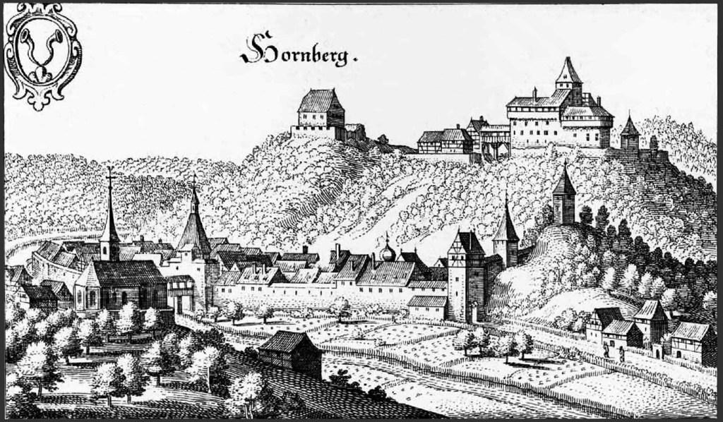 Stich von Matthäus Merian: Hornberg um 1643.