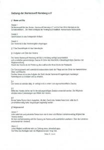 Satzung der Narrenzunft Hornberg e.V.