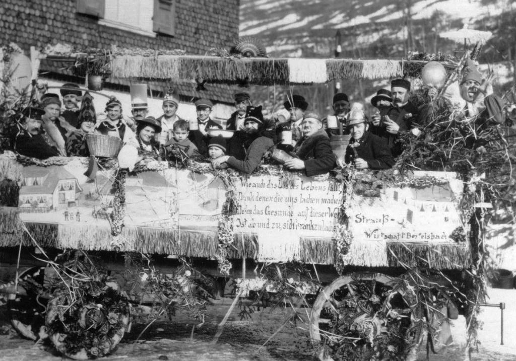 Umzugswagen zum Andenken an das Freiamt Hornberg, 10.02.1929.