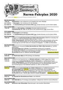 thumbnail of Fahrplan 2020 – Stand 20.01.2020