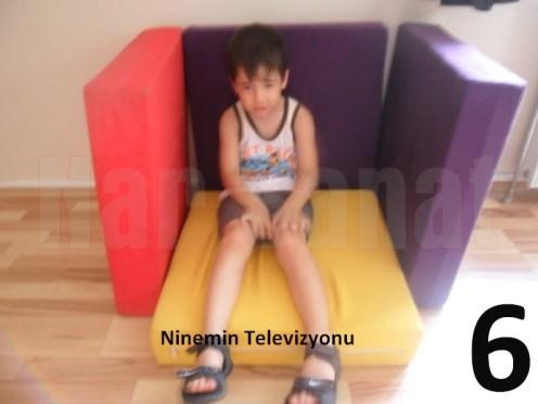 6 Ninemin evinde televizyon olduk
