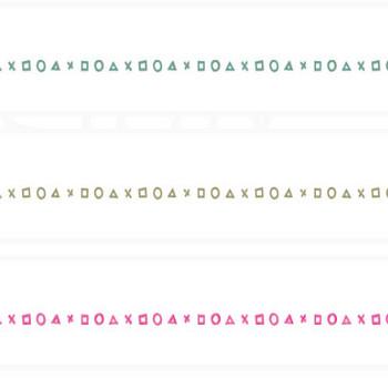 丸・三角・四角・バツの組み合わせライン | 罫線・飾り罫ライン素材 FREE LINE DESIGN