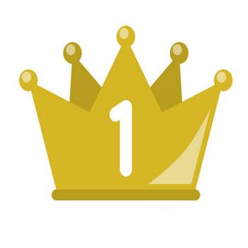フラットな王冠イラスト<ランキング1位・2位・3位> | 無料フリーイラスト素材集【Frame illust】